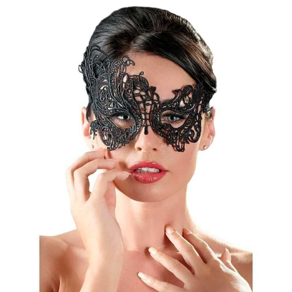 Køb Cottelli Collection Smuk Maske med kniplinger