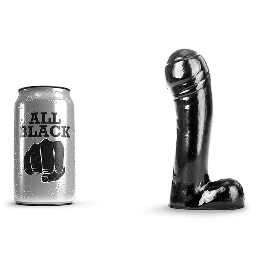 Køb All Black 44  –  Realistisk Dildo Med Stort Hoved